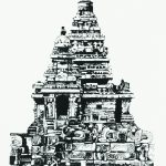 Indian Shore Temple Mahaballipuram (black & white version)