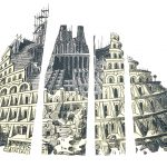 Babel Tower in Pieces (Homage to Bruegel)
